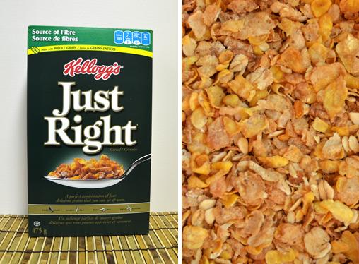 Céréales agrandies pour montrer la texture.